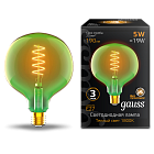 Лампа Gauss LED Filament Flexible G125-C Green E27 5W 190lm 1800K 125*178mm 1/10 1012802105