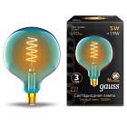 Лампа Gauss LED Filament Flexible G125-C Sky Blue E27 5W 190lm 1800K 125*178mm 1/10 1013802105