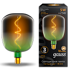Лампа Gauss LED Filament Flexible V140-DC Green-Clear E27 5W 200lm 1800K 140*200mm 1/6 1009802105