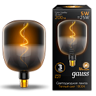 Лампа Gauss LED Filament V140-DC Black-Clear 5W E27 200lm 1800K 140*204mm 1/6 1008802105